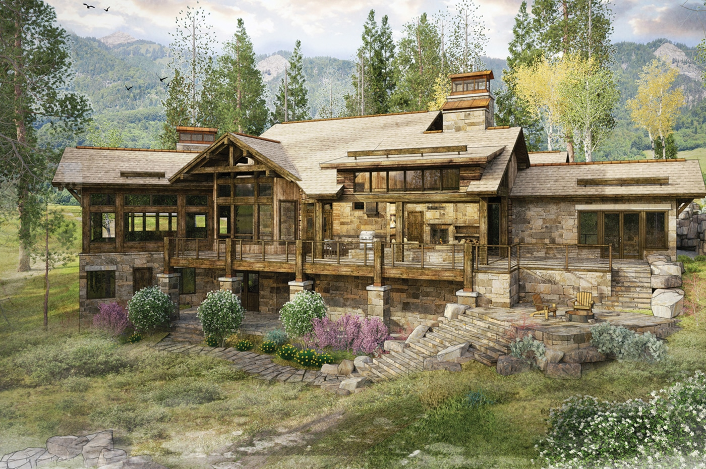 Big Sky Log Cabin Floor Plan