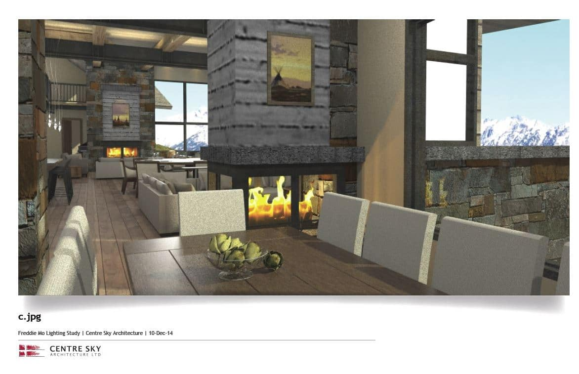 custom montana residence moonlight basin centre sky architecture