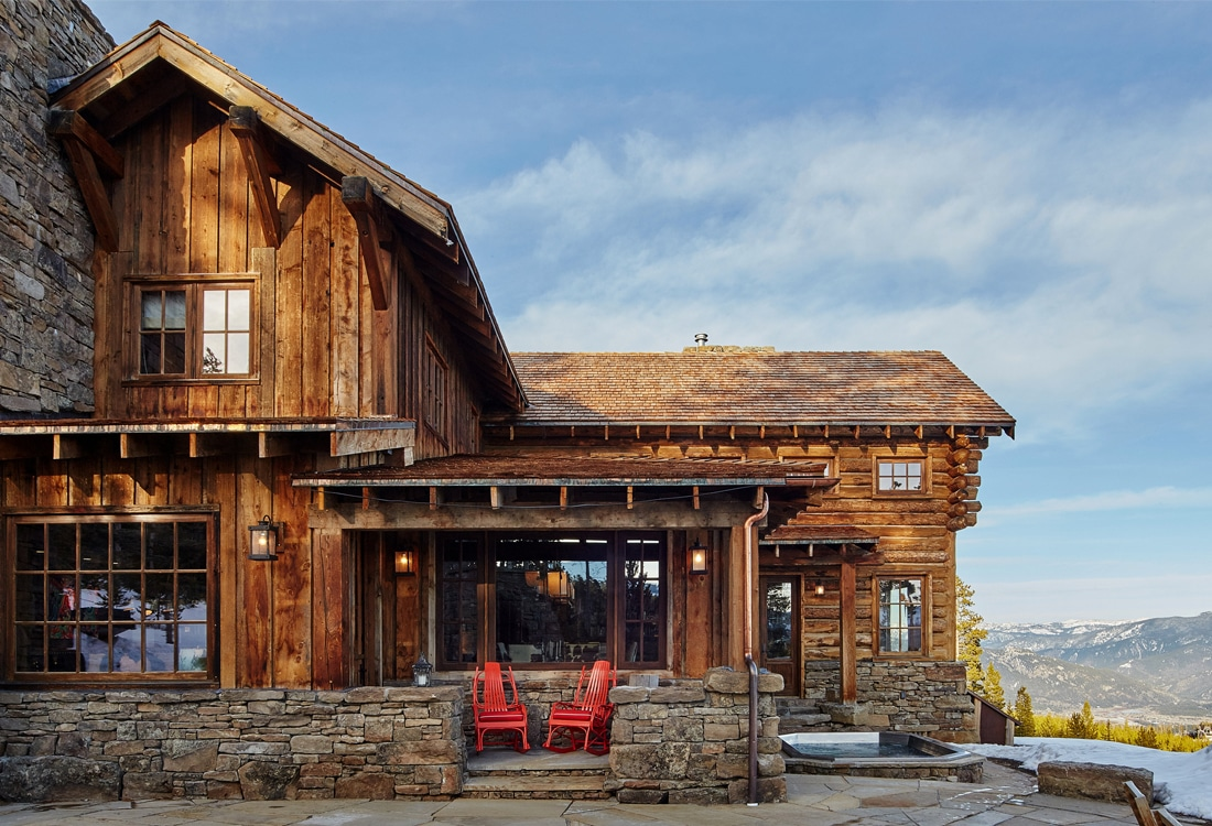 100 Montana Lodge Rustic Mountain House Emejing